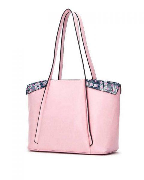 Bag in Bag Shopper Funky roze pink grote dames tassen extra binnentas print goedkope musthave itbags giuliano bestellen