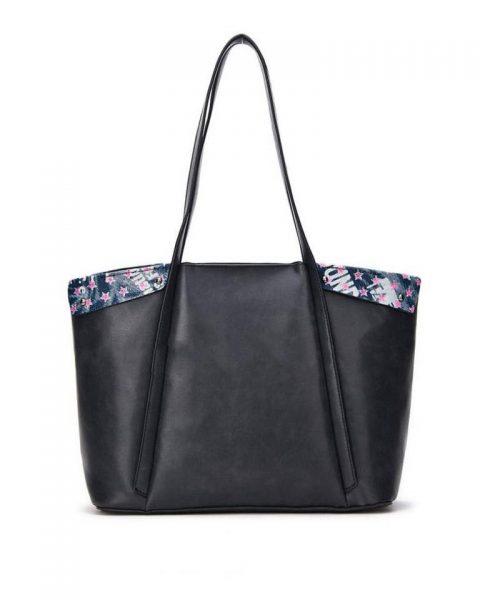 Bag in Bag Shopper Funky zwart zwarte grote dames tassen kunstleder extra binnentas print goedkope musthave itbags giuliano bestellen