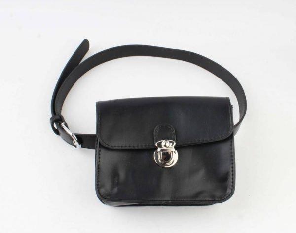 Heuptas Classic zwart zwarte riemtas buideltas beltbag fannypack festival silver musthave it bags ladies vrouwen fashion