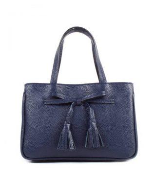 Lederen Handtas strik blauw blauwe leren dames tassen strik detail kwastjes voor musthave look a like it bags giuliano online