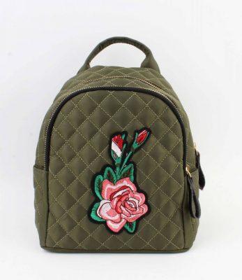 Mini Rugtas Rozen kakhi groen groene rugzakken rugtassen kleine dames festival bags stoffen bags online bestellen backpack small