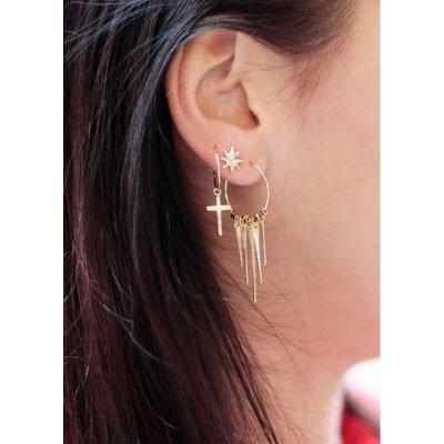 Oorbellen Chic Cross goud gouden dames oorbellen kruis bedel oorhangers earrings online kopen dames sieraden online