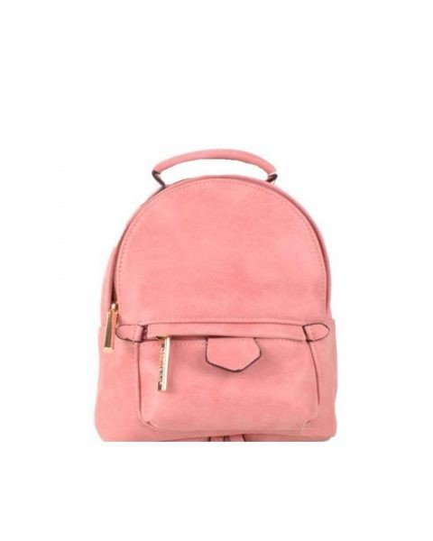 Rugtas Lilly S roze pink kleine rugzakken rugtassen festival bags goedkope dames tassen kunstleder giuliano