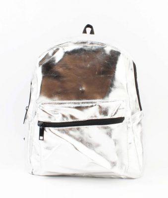 Rugtas Metallic zilver zilveren glans rugzakken rugtassen dames festival bags kunstleder bags online bestellen backpack