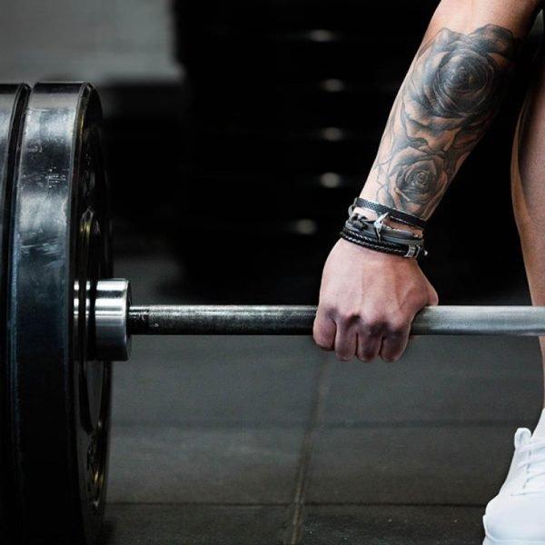 stoere mannen armbanden online bestellen luxe leren gevlochten armband rvs armbanden zilveren slot