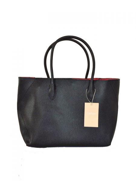 Bag in Bag Tas Elias zwart zwarte dames tassen rode voering binnenkant extra binnen tas fashion kantoor bags it bags fashion musthaves online giuliano