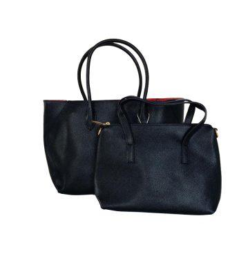 Bag in Bag Tas Elias zwart zwarte dames tassen rode voering binnenkant extra binnen tas fashion kantoor bags it bags fashion musthaves online giuliano bestellen