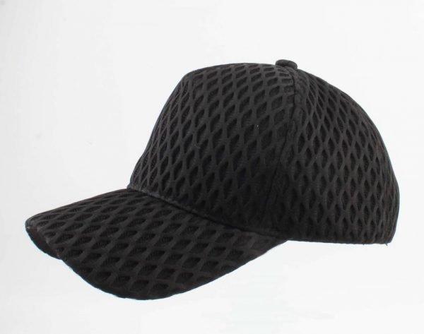 Pet Visnet zwart zwarte dames petten van visnet motief fishnet print white caps musthave mode items vakantie