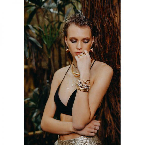 Ring Connected Lines goud gouden open dames ringen maat met knoop fashion musthave ringen accessoires online