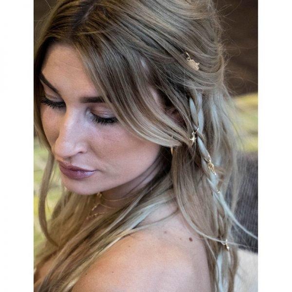 Setje haarringen haar ringen goud haar bedels musthave fashion festival haar accessoires hair-accessories hair braid rings