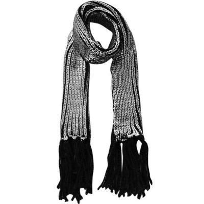 Sjaal Snow zwart zwarte gebreide dames sjaals glansdraad franjes fringe warme zilveren shawl woman online blue-