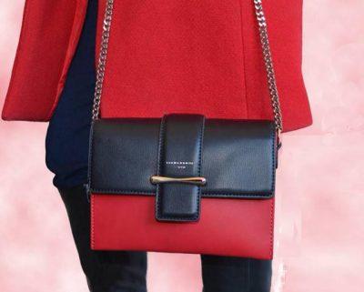 Tas Missy zwart zwarte rood rode 2 kleurige dames tassen jack and jones kunstleder crossbody zomer itbags bags online fashion kopen