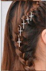haarringen haar bedels haar ringen sieraden haar hair yewelry zilveren zilver kruis ster star cross copy