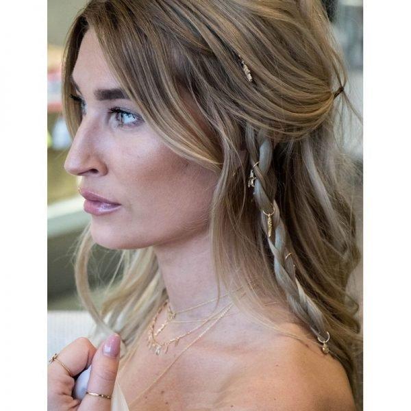 haarringen haar ringen goud haar bedels musthave fashion festival haar accessoires hair-accessories hair braid rings