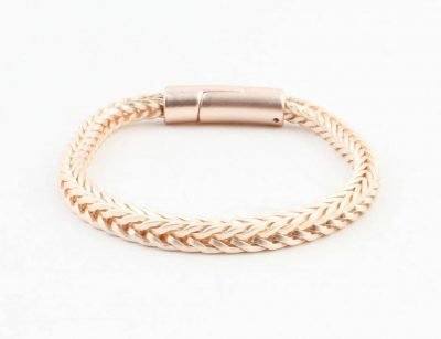 Armband-Noe mat rosé dames armbanden schakel gevlochten armbanden bracelet roségold ladies online bestellen