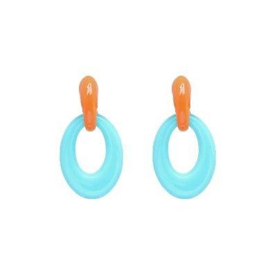 Oorbellen Summer vibes Mint oranje oorhangers verwisselbare oorbellen mix fashion earrings statement oorbel