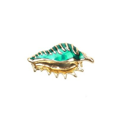 Kleding broche Salty Shell mint turquoise kledingspeltjes krab vorm kleding pins brooches kleding pins patches musthaves fashion items
