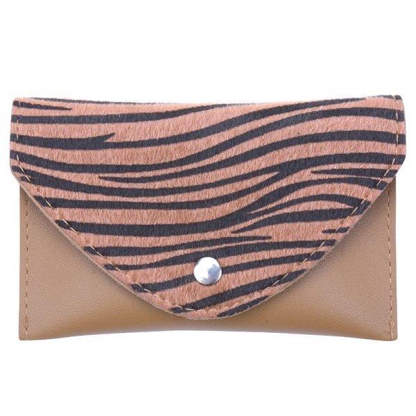 Riem Tasje Wild Thing Zebra belt bag heuptasjes cognac bruine dierenhuid flap exotische dieren print fashion musthave items