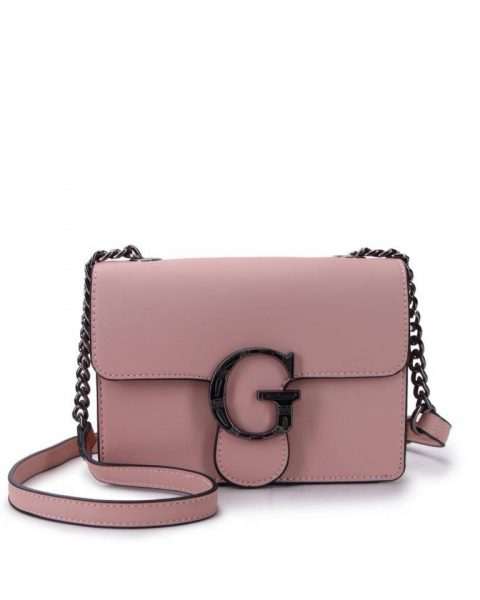 Tas G Snake Flap oud roze pink dames schoudertassen kettinghengsel zilveren g gesp giuliano tassen kunstleder festival bags