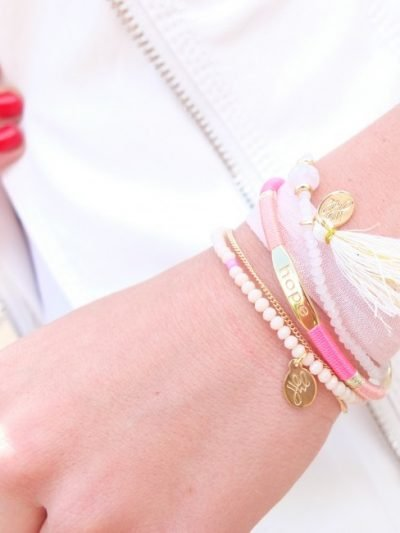 Armband Luck hope gouden armband tekst gold plated pastel accessoires