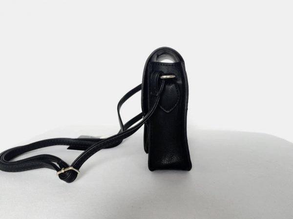 Tasje Karima zwart zwarte hippe tas schouder tas hengsel turquoise tassen online kopen musthave accessoires bags online kopen zijkant