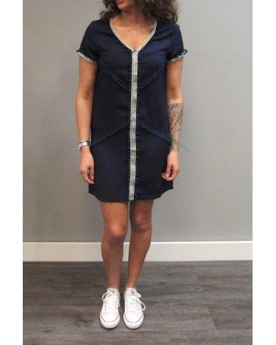 Jurk IBiza blue musthave boho chique korte blauwe jurk online kleding kopen goedkoop kwaliteit hippe musthaves