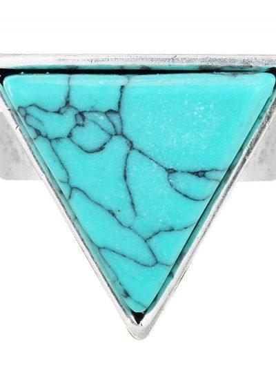 Ring Marble turquoise Zilver mooie zilveren ringen driehoek online kopen accessoires zilver goedkope sieraden online rings marmer