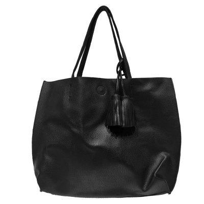 Tas Tassels Zwart mooie kunstlederen tassen met kwastjes fringe musthave it bags online kopen