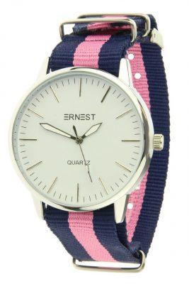 Horloge strips blauw roze horloges met gekleurde armband musthave ernest horloges hippe musthave sieraden