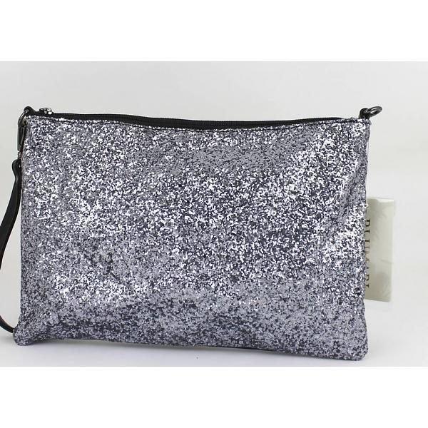 Clutch Glitters zilver zilveren luxe clutchtes online kopen mooi kleine tasjes online bestellen kopen musthave tassen