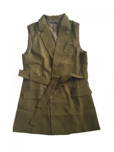 Gilet Isa Green groen gilet jasje mouwloos zonder mouwen musthave zomer lang gilets online kopen