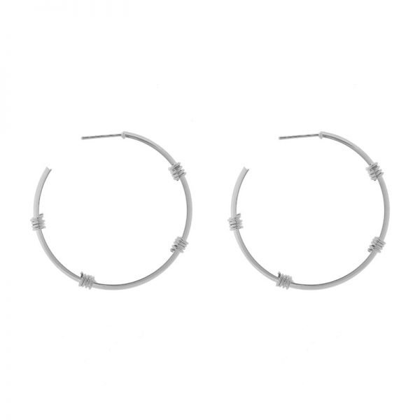 Oorbellen Fashionable Creoles zilver zilveren ronde oorbel oorhanger Earrings fashion musthave sieraden online bestellen buy