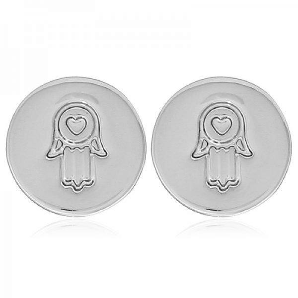 Oorknopjes Hand van Fatima zilver zilveren ronde earrings gold kleine dames oorbellen hartje musthave sieradenn