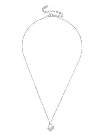 ketting hart bedel tekst love zilveren ketting kettingen dames ketting sieraden accessoires online kopen bestellen collier