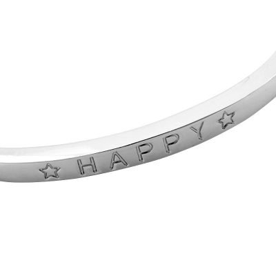 Armband Happy zilver zilveren open-armband-met-happy tekst gegraveerd-online-musthave-sieraden-en-accessoires-kopen detail