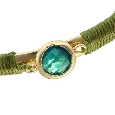 Armband Mint stone gouden goud armbanden met grone turquoise mint open armband online musthave-sieraden en accessoires kopen detail
