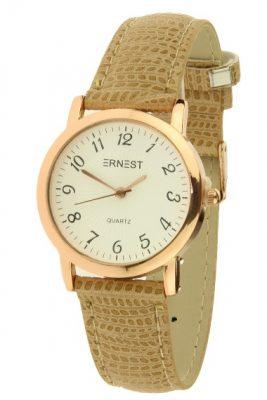 Horloge Pedra snake camel met rose kast ernest horloges musthave watches online bestellen kopen klokjes dames horloges