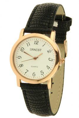 Horloge Pedra snake zwart zwarte met rose kast ernest horloges musthave watches online bestellen kopen klokjes dames horloges