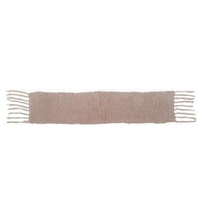 Sjaal Winter Bruin bruine warme gebreide lange sjaal met fringe franjes online bestellen sjaals omslagdoeken detail