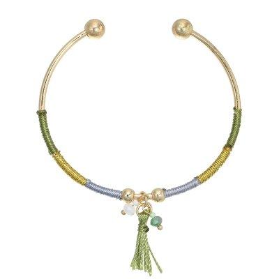 Armband Green Tassle open gekleurde dames ambanden met groen kwastje en kralen yehwang kopen