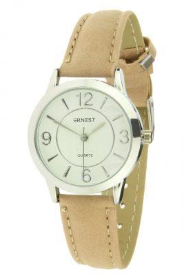 Horloge Cortiga pastel nude creme band zilver zilveren kast musthave horloges onlne kopen bestellen ernest horloges