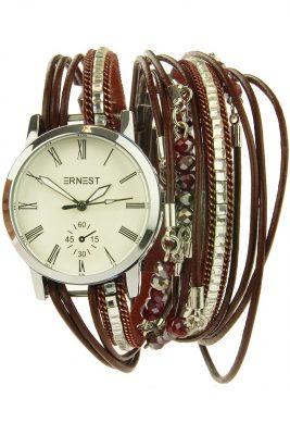 Horloge armband striga rood rode bordeaux orloge verschillende armbanden kwastjes ernest horloge musthaves
