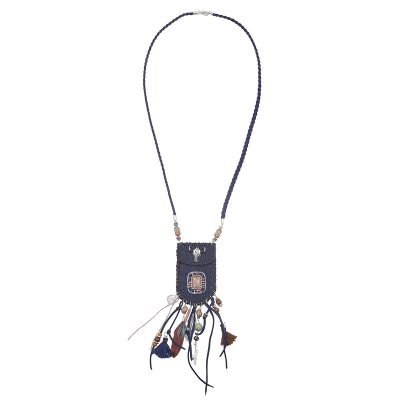 Ketting Boho Bag blauw blauwe bohemian ibiza stijl pouch tasje ketting musthave boho fashion online bestellen