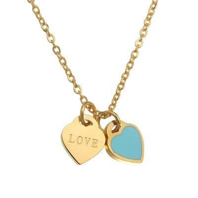 ketting-turquoise-love-goude-ketting-met-2-hartjes-turquoise-en-love-bedels-musthave-kettingen-online-bestellen-kopen-detail