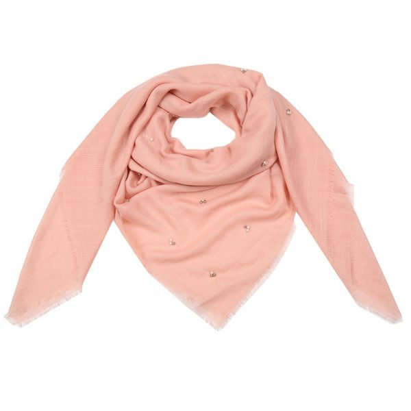 Sjaal Tiny Beads roze roze dames sjaals kralen parels details musthave fashion omslagdoeken shawls kopen bestellen