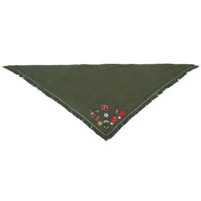 sjaal-patches-groen groene grote dames sjaals-omslagdoeken-hippe-musthave-patches-dames-winter-online driehoeks sjaals