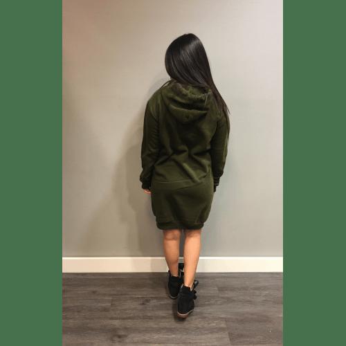 Lange Trui Met Capuchon.Groene Sweater Dress Capuchon Groen Groene Lange Sweaters Truien