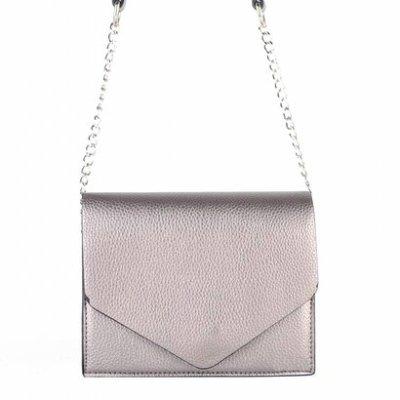 Schoudertas-Fancy brons bronzen -kleine-dames-tasjes-tassen-fashion-bags-kopen-goedkoop-ketting hengsel
