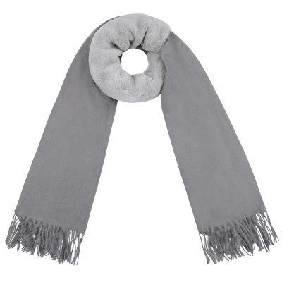 Sjaal Soft Bont grijs grijze zachte warme dames sjaal wollen deel kopen