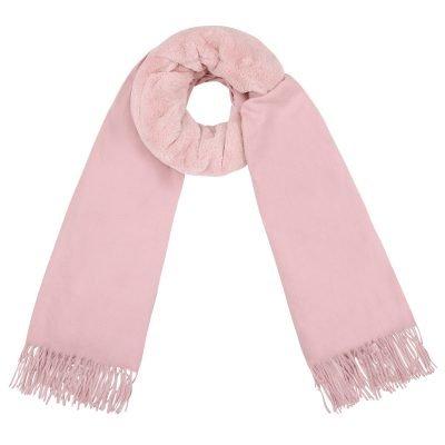 Sjaal Soft Bont roze pink zachte warme dames sjaal wollen deel kopen winter accessoires